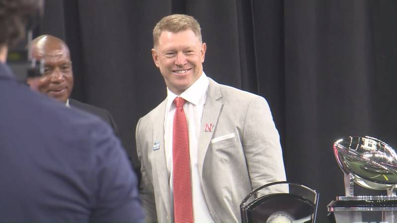 Scott Frost smiles for a photo at Big Ten Media Days on Thursday, July 22, 2021.