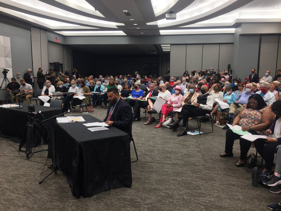 A full crowd was in attendance at the third public hearing of the Nebraska Redistricting...