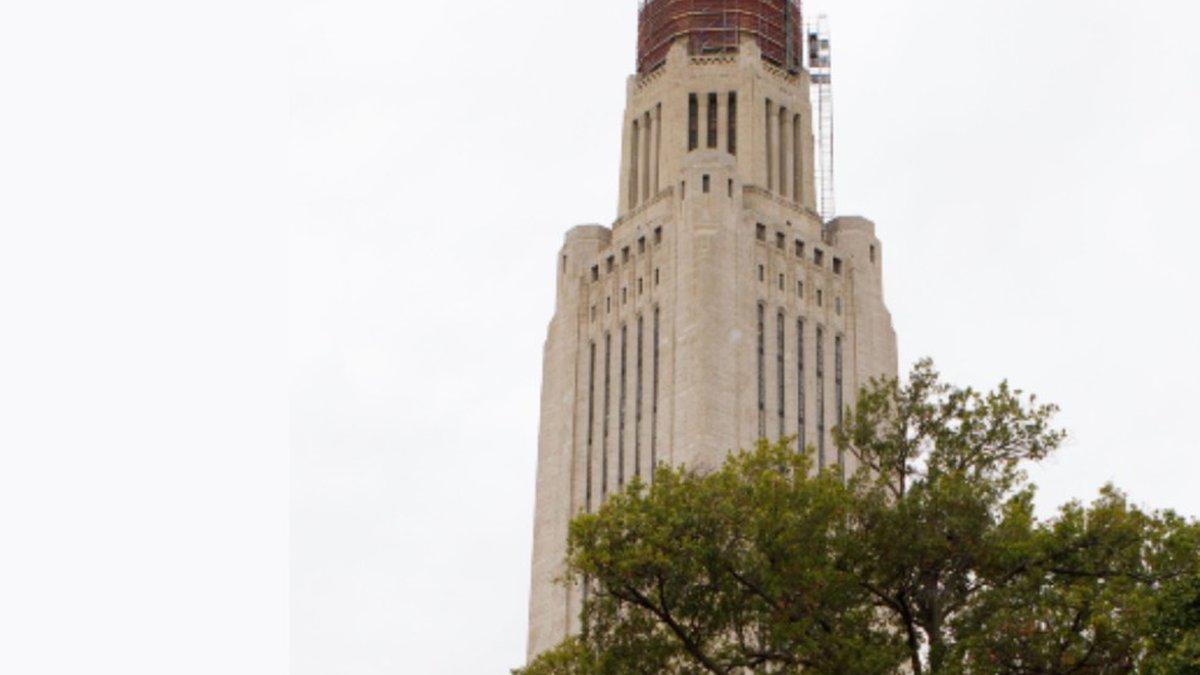 Construction crews are restoring the Nebraska State Capitol dome.