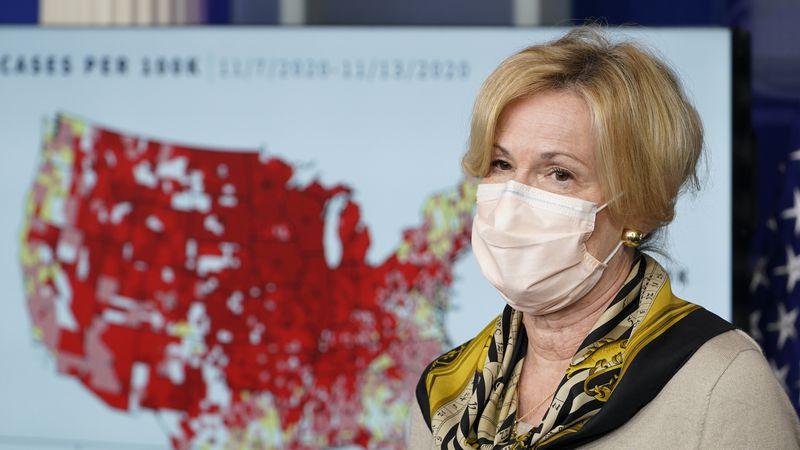 FILE - In this Nov. 19, 2020 file photo, White House Coronavirus Response Coordinator Dr....