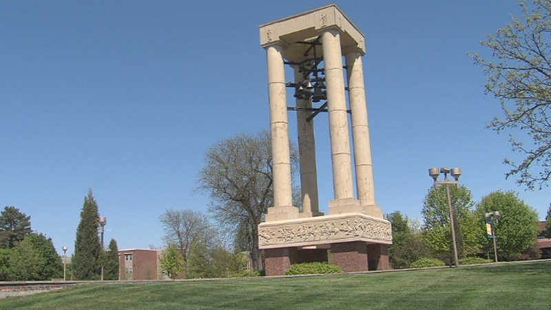 The Bell Tower on UNK's campus.