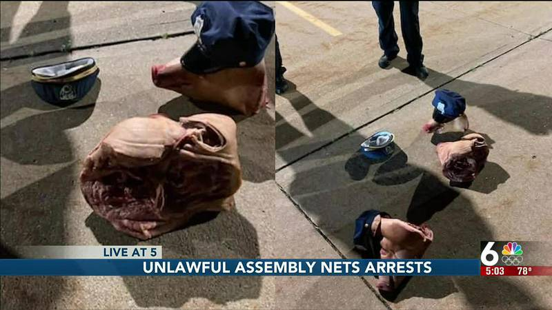 Omaha Police arrests for unlawful assembly