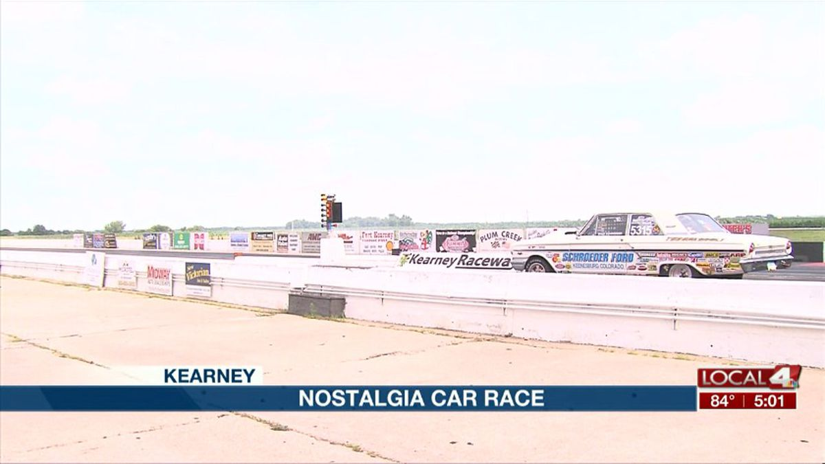 Drivers compete in the Kearney Raceway Park's annual Nostalgia Drag Race on Sunday. (Kelsey Dickeson, KSNB)