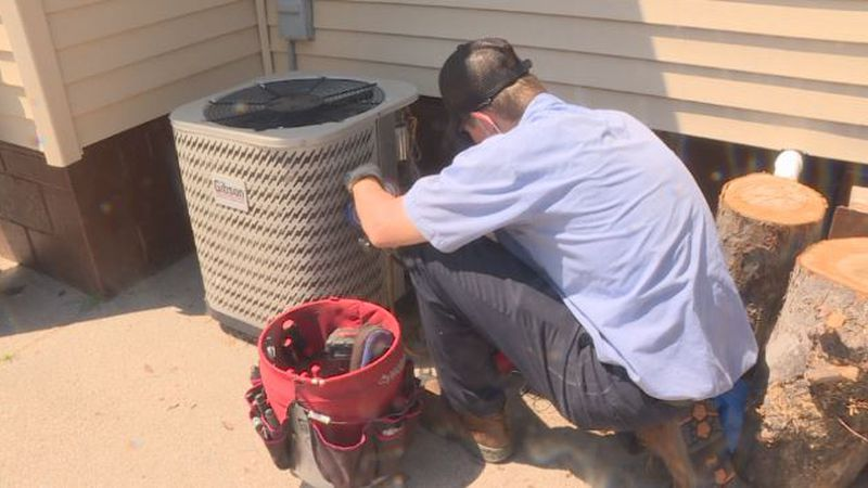 McElroy's Service Experts makes house call to fix air conditioning unit in Grand Island.