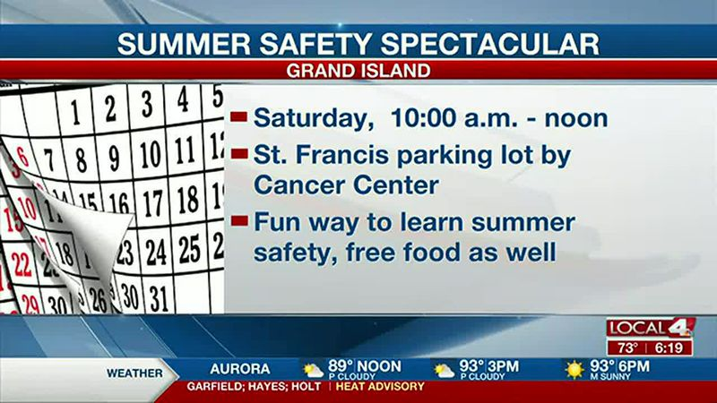 The Summer Safety Spectacular at CHI Health St. Francis is happening June 12.