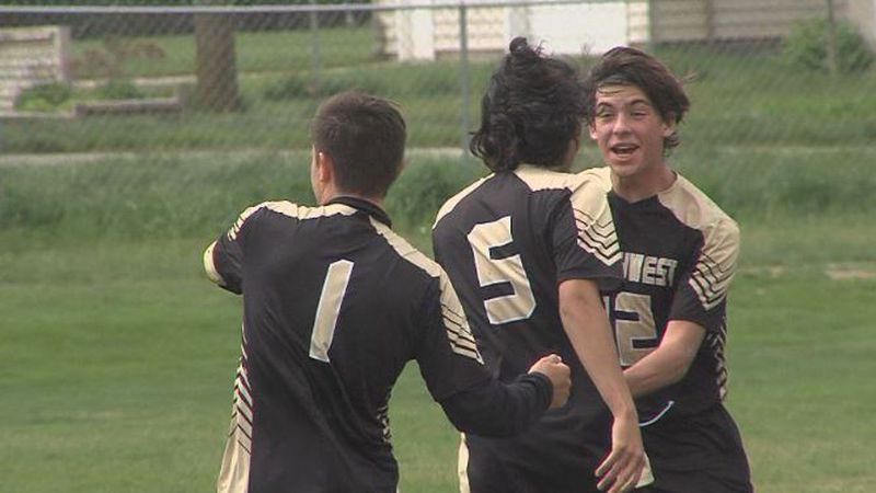 Northwest celebrates Najib Ortiz's game-winning goal in B-6 District final