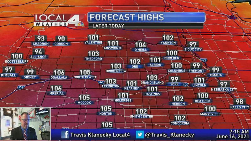 Triple digit heat for a couple of days.