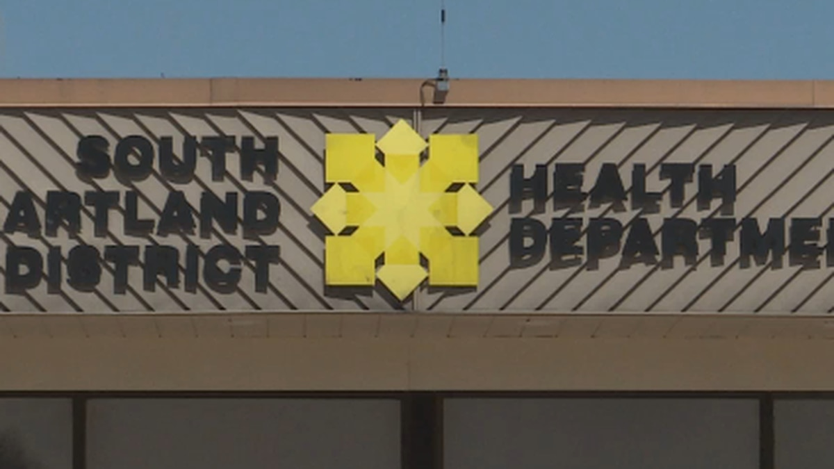 The South Heartland District Health Department risk dial trended down for this week
