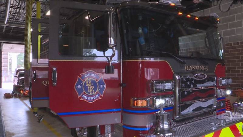 Hastings Fire Department recently upgraded their fire truck.