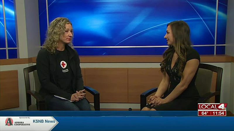 Shanie with the American Red Cross talks the importance of having an evacuation plan in the...