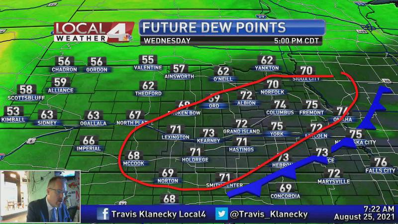Yes, it might be a little cooler, but the heat and humidity will still be quite unpleasant today.