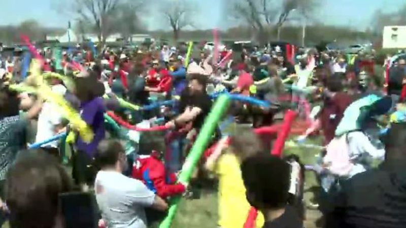 On Saturday, hundreds of people showed up at the Air Park Green Area, most of them named Josh.