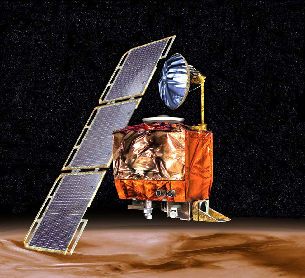The Mars Climate Orbiter was launched in Dec 1998, and was destroyed when it entered the atmosphere of Mars, ending the mission.
