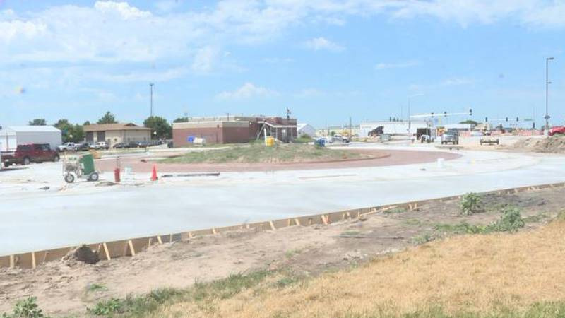 Old Potash Hwy and Wilmer Avenue Roundabout in Grand Island.