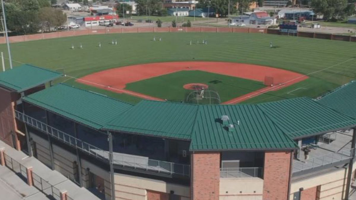 Aerial view of Duncan Field before the 2019 Cornhusker League All-Star Game