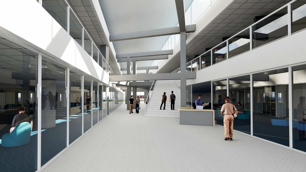 A redesigned main level would improve student access to resources and services inside UNK's...