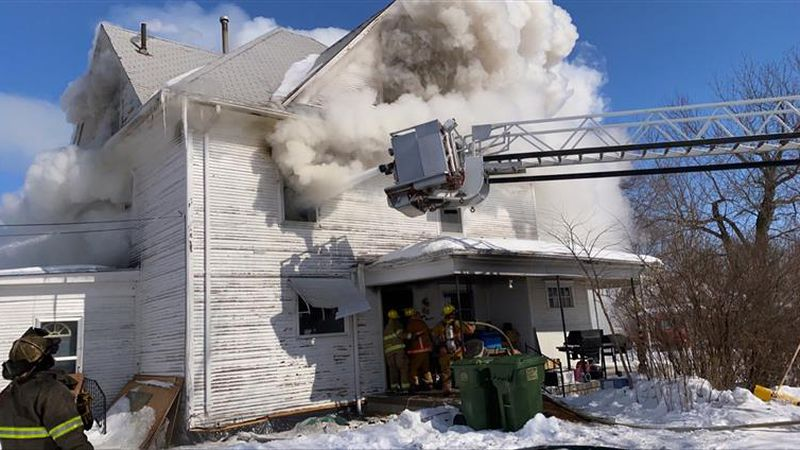 Fire crews are on scene of a house fire at 811 South Saunders in Sutton.
