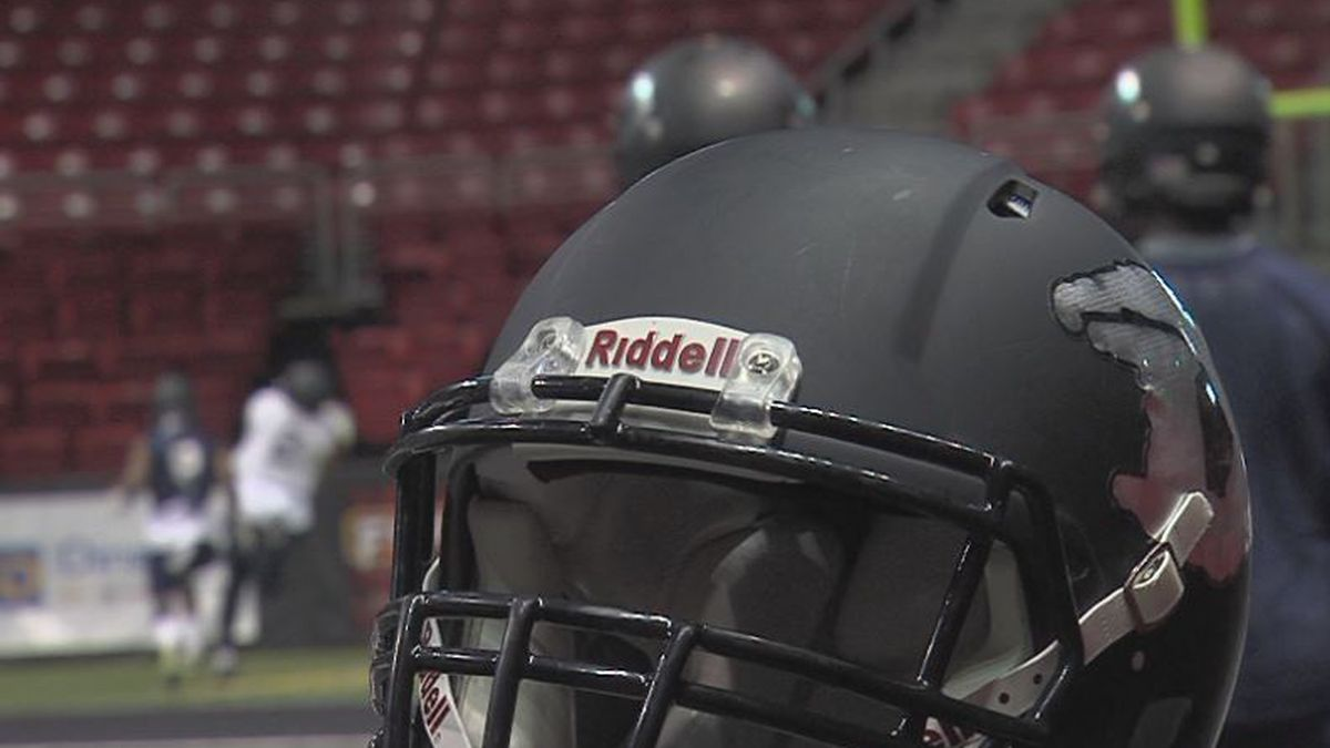 The Danger practice before taking on the Quad Cities Steamwheelers in their final home game of the season