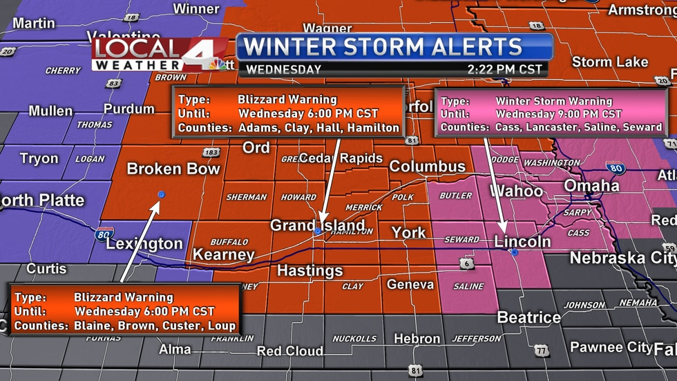 Blizzard Warning for tri-cities until 6 p.m.