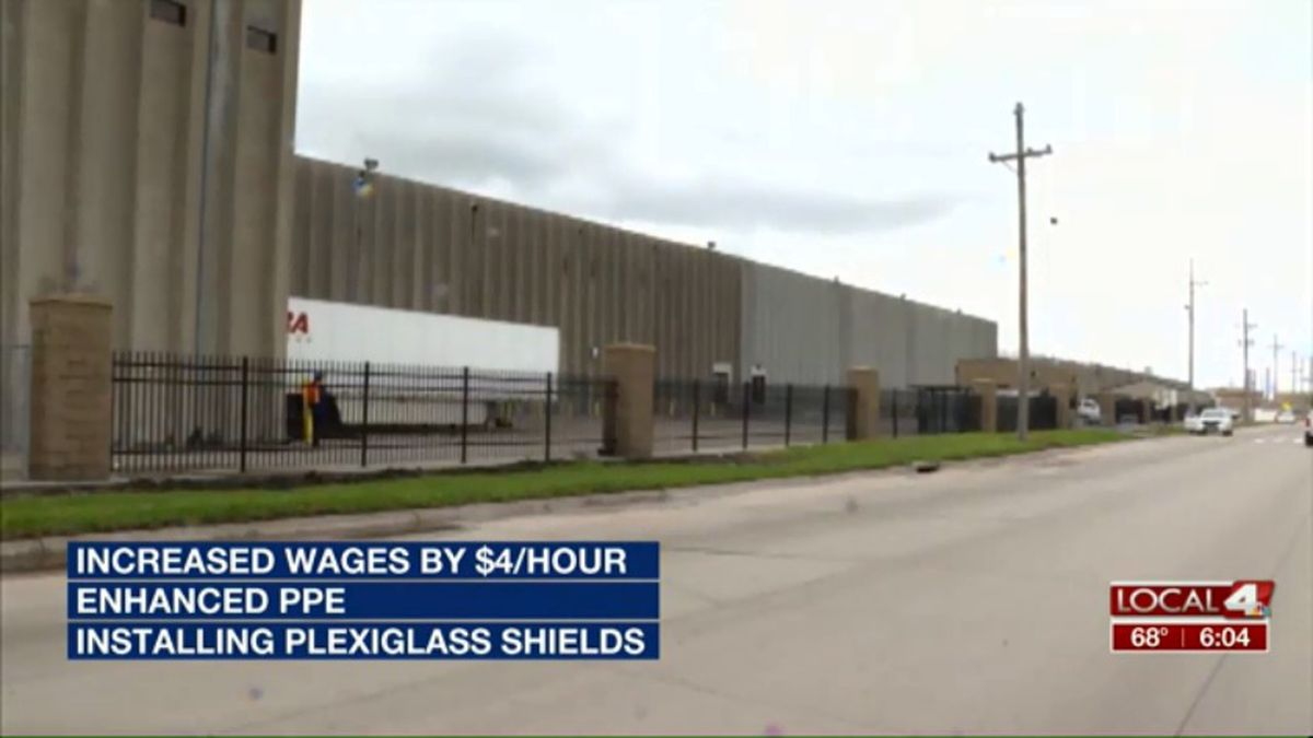JBS and the United Food and Commercial Workers Union worked to temporarily increase wages for workers, and add enhanced safety measures in their Nebraska plants. (Source: Kelsey Dickeson, KSNB)