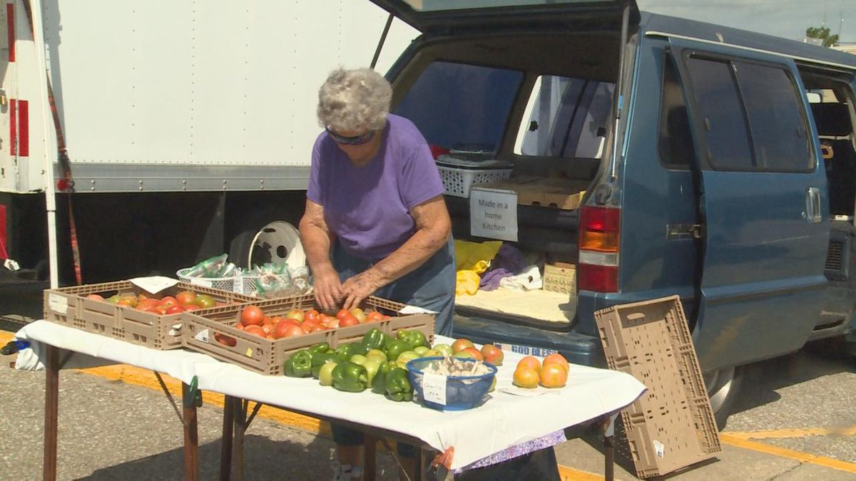 Leva Cochran has attended the Farmers Market for about 43 years. (Source: Erika Siebring/KNOP TV).