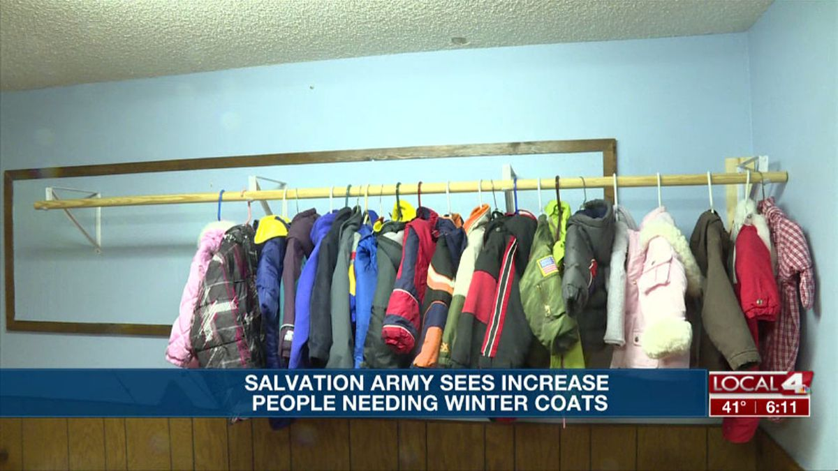 In just over a month, the Hastings Salvation Army gave out 90 winter coats. That's almost double the amount they distribute the entire year. (Source: Kelsey Dickeson, KSNB)
