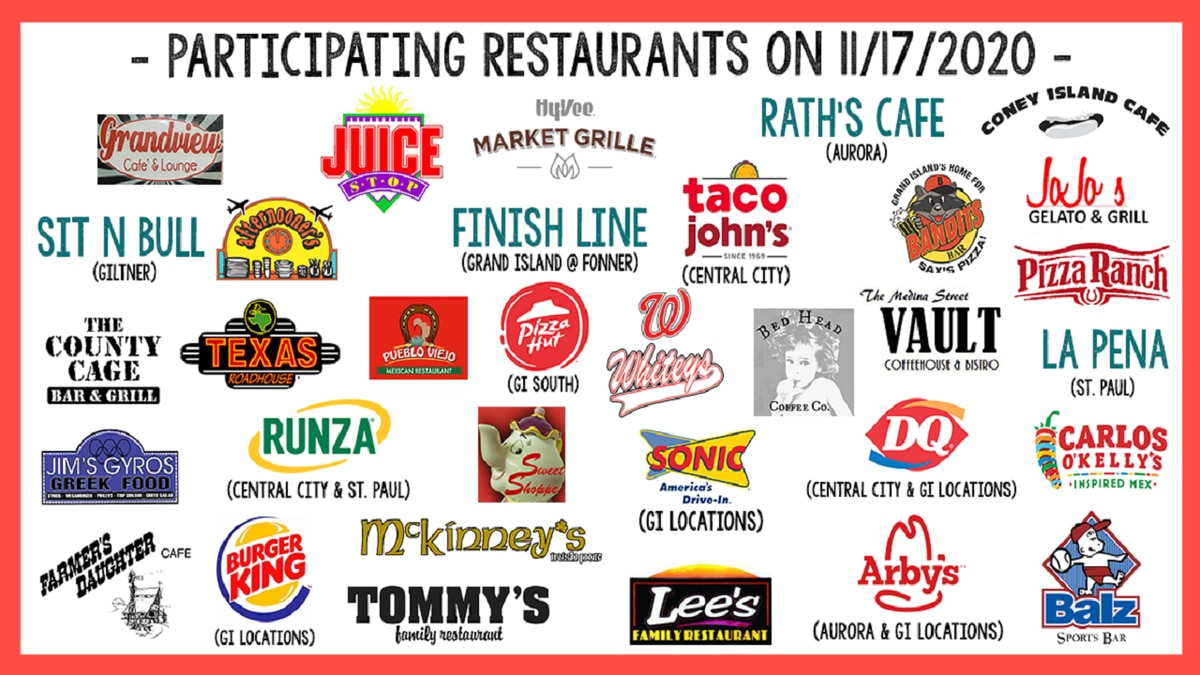 A large group of restaurants are helping with a good cause.