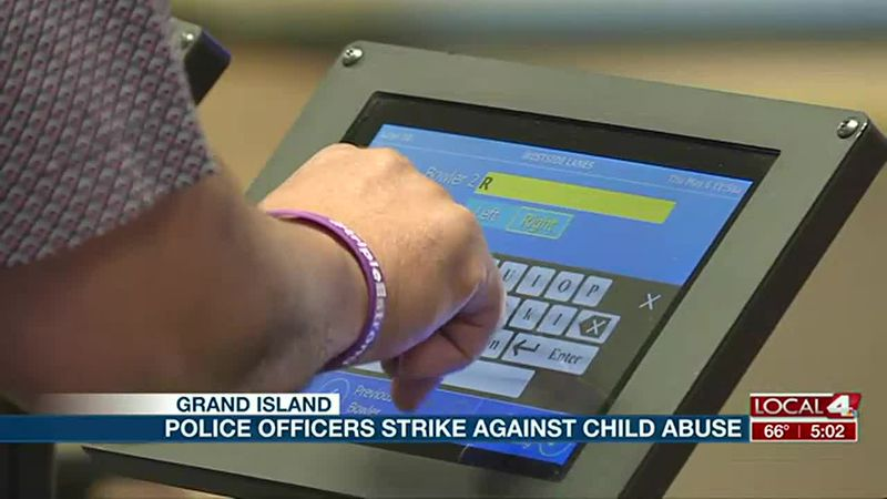Police officers strike against child abuse