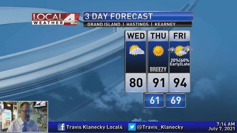 Enjoy the cooldown. Hot weather returns soon.