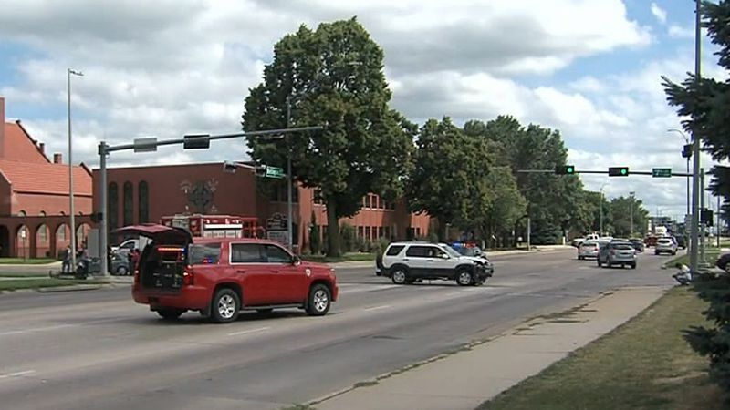 Hastings Police responded to an accident Thursday afternoon at 7th and Burlington.