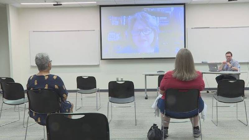 The Grand Island Public Library hosted a zoom call for patrons with New York Times Best Selling...