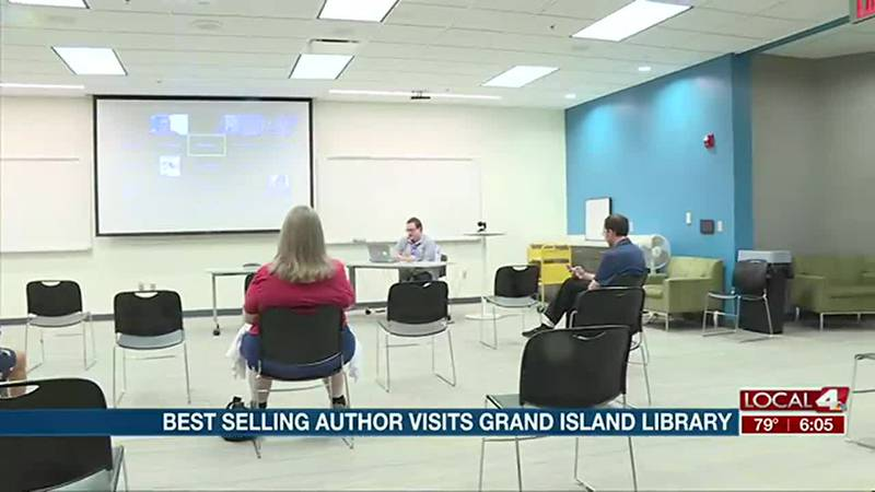 Best selling author visits Grand Island Public Library