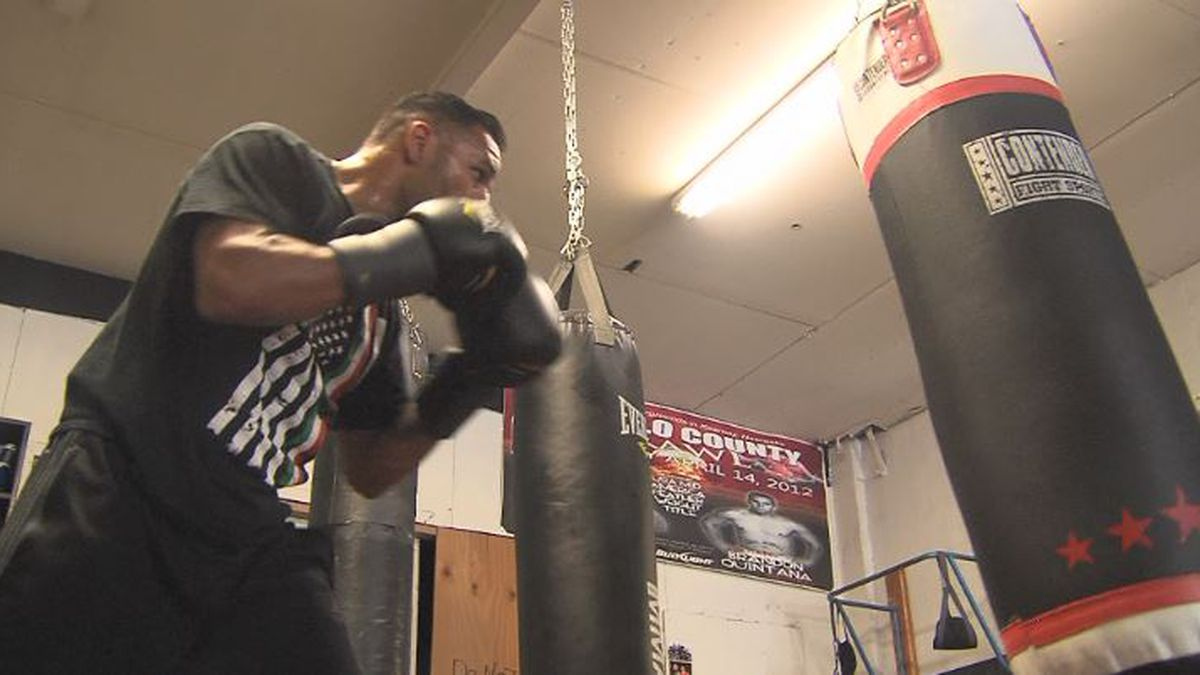 William Quintana boxes at Quintana Boxing Gym in Kearney