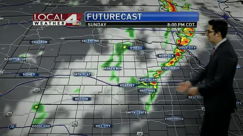 Storms will move through Eastern Nebraska this evening with potential for severe winds and hail.
