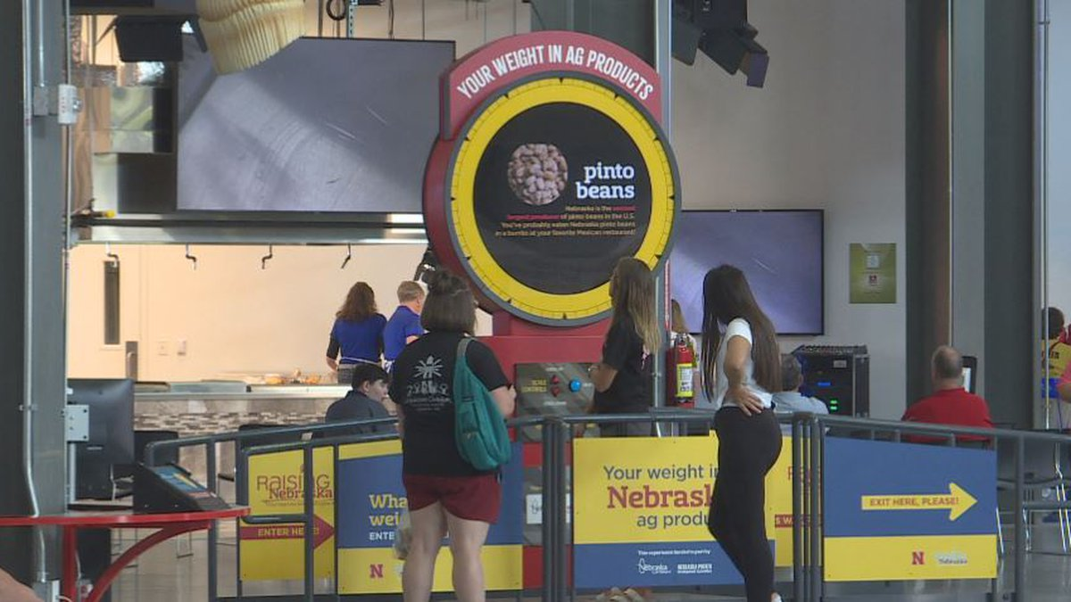 Raising Nebraska guests check out one of the new exhibits Saturday.