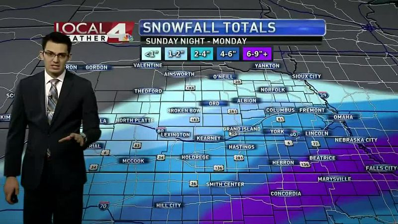 We could see several inches of snow Sunday night through Tuesday. Here's a breakdown of the...