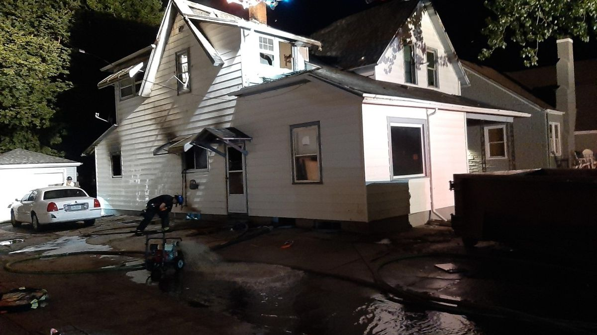 Firefighters remained on scene early Wednesday morning after being called out to a house fire on N. St. Joseph Avenue around 6:30 p.m. Tuesday. (Source: KSNB)