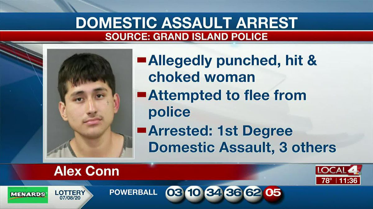 A Grand Island man is arrested after alleged domestic assault.
