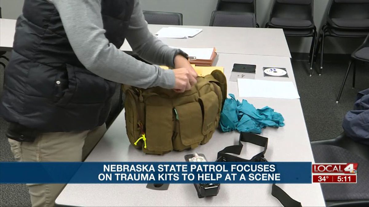 "The Nebraska State Patrol has added a focus to the ""go-bags"" they keep in their patrol units to help them respond to medical needs when they are the first on the scene. (KSNB)"
