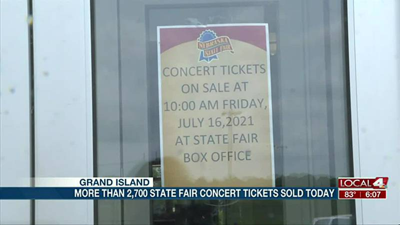 More than 2,700 state fair concert tickets sold on opening day