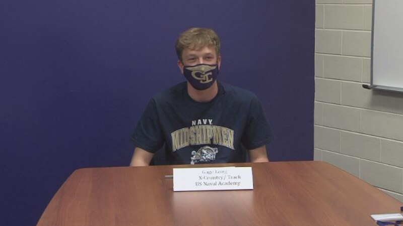 Gage Long signs with U.S. Naval Academy to run cross country and track