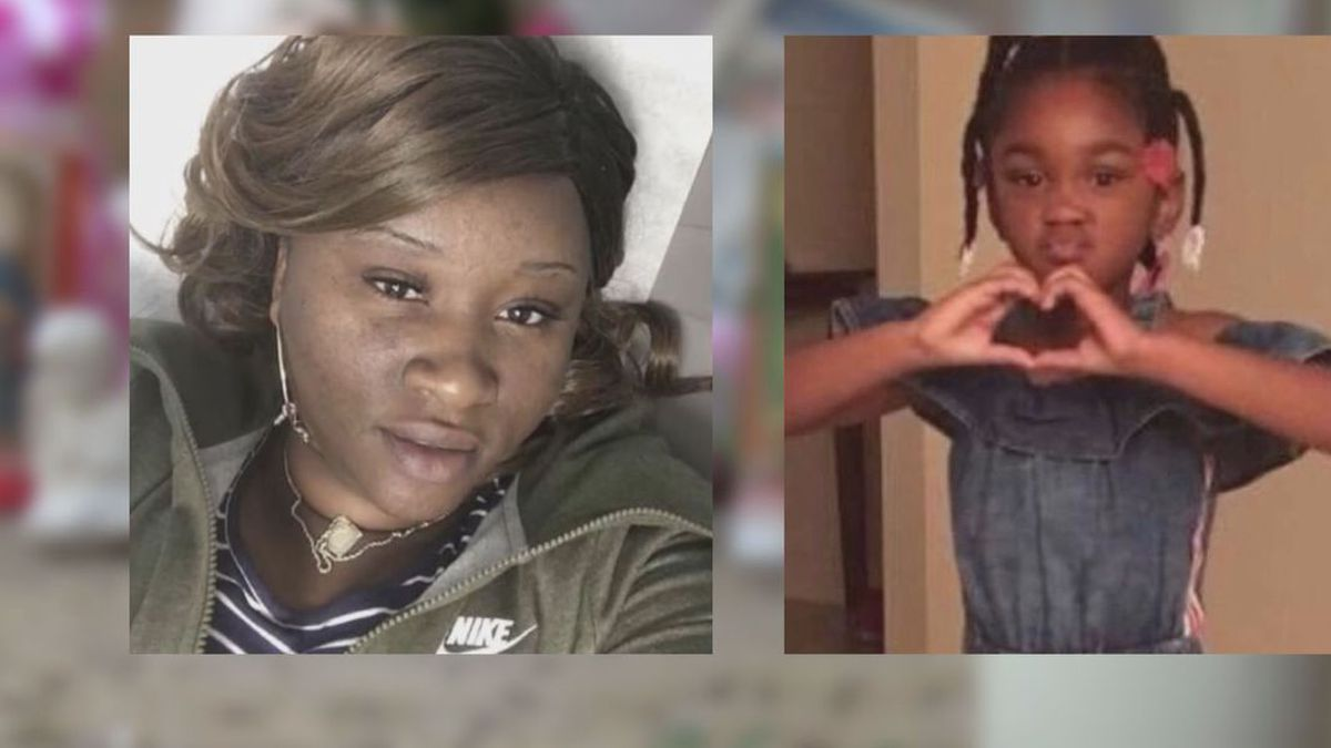 A family member discovered Sharee Bradley's body, but police still have not found little Nevaeh Adams. (Source: Family photos)