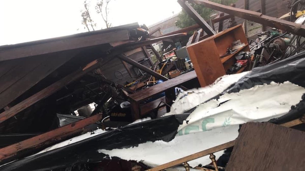 A local farmer says the storm damaged buildings on his farm in Southwest Nebraska.  Joseph Sramak was in storm shelter when the storm hit. (SOURCE: Joseph Sramak)