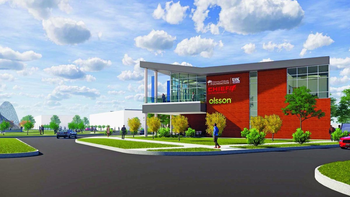 The 49,000-square-foot Regional Engagement and Alumni Center planned for UNK's University...