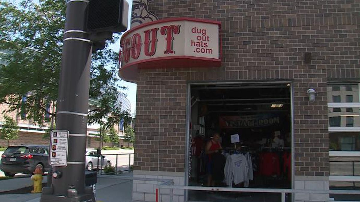 Shoppers head to The Dugout at 13th and Cuming in Omaha on Sunday for special sales before the business officially closes its doors at the end of June. (Source: Rex Smith/WOWT)