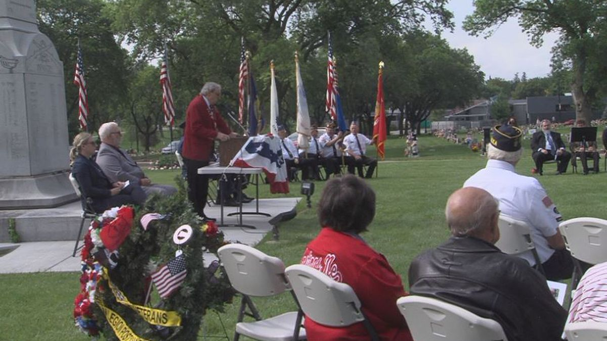 A Memorial Day program was held Monday morning at Parkview Cemetery in Hastings.