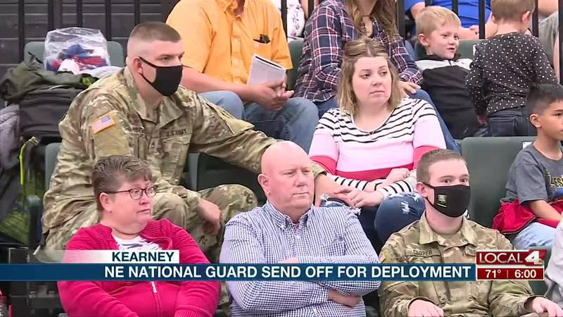 Nebraska National Guard send off unit for deployment