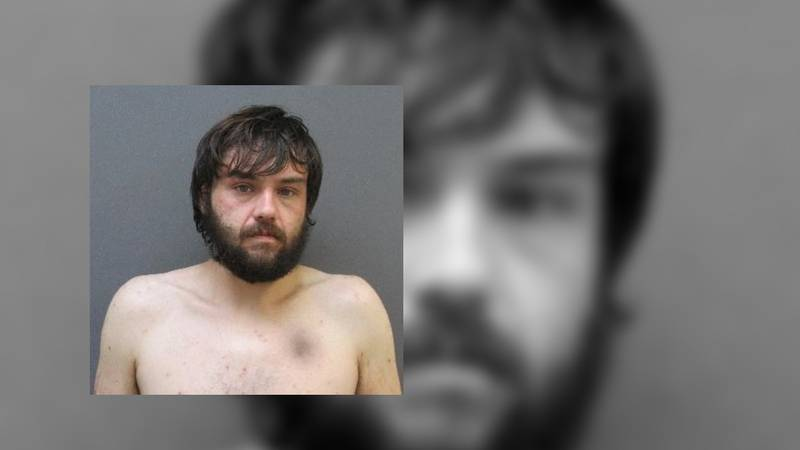 Mitchel Horton, 27, was arrested early Tuesday morning after he threatened his wife with a gun.