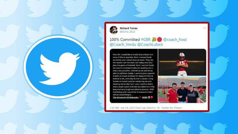 Texas high school quarterback, Richard Torres, tweeted on Monday that he is coming to join...