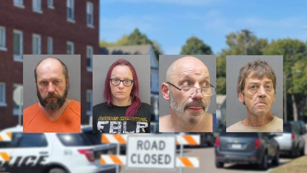(Left to right) William Packer, Holly Hartman, Ryan Moody and Gregg Weatherwax were taken into...
